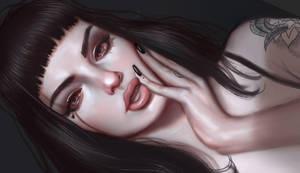 Stylized portrait practice. by victter-le-fou