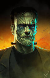 A classic for Halloween, monster of Frankenstein by victter-le-fou