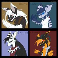SD- Four Elemental Demons by Yark-Wark