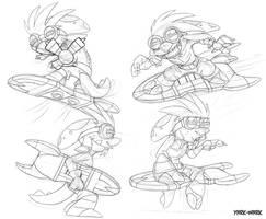 Kolt and Board doodles by Yark-Wark