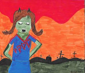 Drawlloween 10/2/16 - Zombies by deliciousdemonhouse