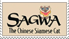 Sagwa The Chinese Siamese Cat Stamp by gunsweat