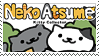 neko atsume stamp by gunsweat