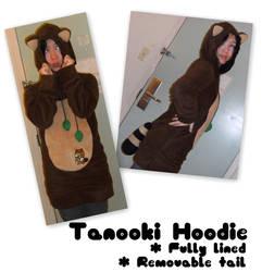 Tanooki suit hoodie by miezukuri