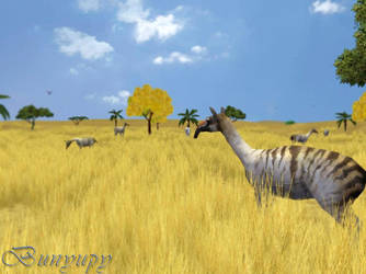 The great yellow plains 2 by Bunyupy