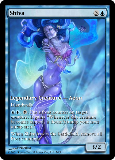 FFX Shiva, MtG'd by eternaldeath09
