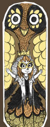 Queen of owl by TinaDrawS