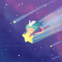 Fly me to the moon by Rinian