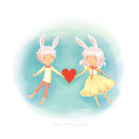 Bunny Hearts by Rinian
