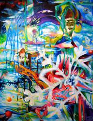 Insane X'mas Eve - oil paintin by Char-coal