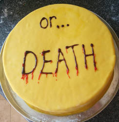 Cake or Death Cake by ssdEternity