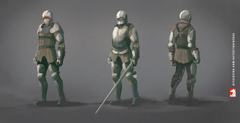 Medieval knight - armor design by QuintusCassius
