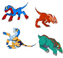Dragon Booster babies by zubat