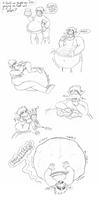 A Very Stuffed Dragon by Earwiggy