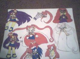 Sailor Moon Manga doodles by PrincessShannon07