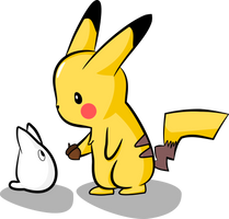 Draw it again - Pikachu and Totoro by Karehn