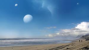 Spacey Beach 1 - final matte by moodflow