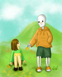Ship 3- US!Chara x US!Papyrus by Soleaf10