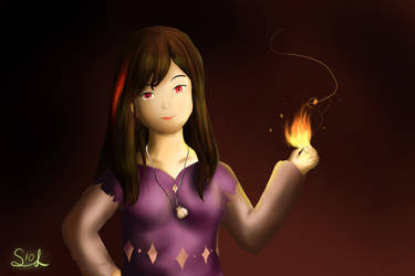 Fiddling with the fire by Soleaf10