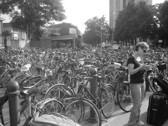 The city of bicycles by anthropomastoras