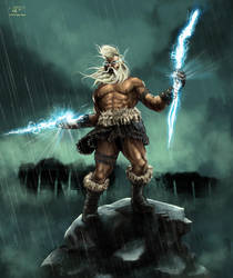 Angry Zeus by ilker-yuksel