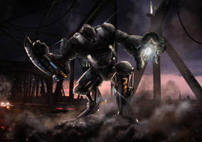 Giant Robot Invasion by ilker-yuksel