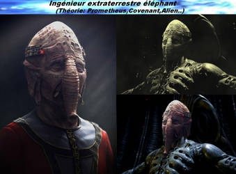 Alien,Engineer Elephant,prometheus,covenant by VMJML1er