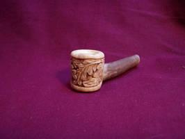 Oak Leaf Antler Pipe by ZachariahBusch
