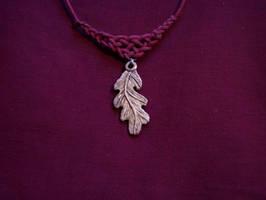 Oak Leaf Antler Pendant by ZachariahBusch
