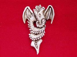Antler Dragon Pendant by ZachariahBusch