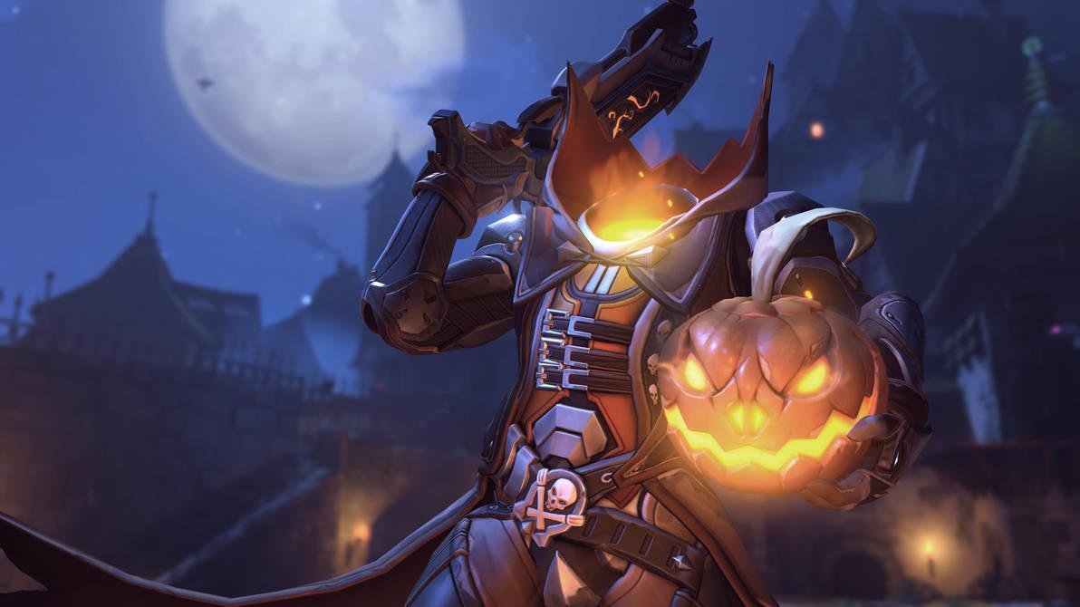 Overwatch Halloween Main Menu Reapers Wallpaper By L1n3b3ck