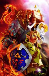 Zelda . colors by thekidKaos