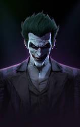 Joker's portrait by P0nyStark