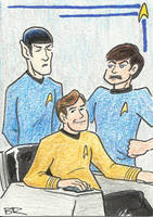 Star Trek - Kirk, Spock and McCoy by BudRogers