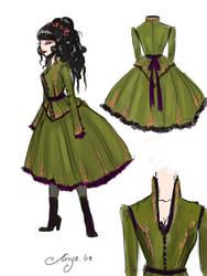 Maid of honor dress by BlackBirdInk