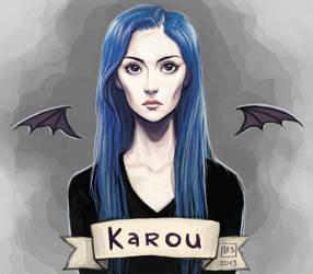 Fan Art Karou by BlackBirdInk