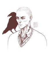 Ronan and Chainsaw by BlackBirdInk