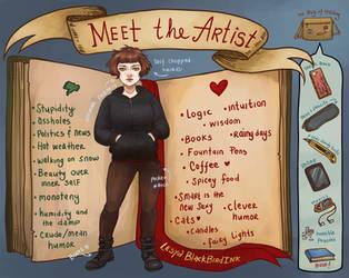 Meet the artist by BlackBirdInk