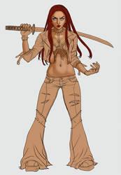 Full Body __Liza Ray WIP 5 by BlackBirdInk