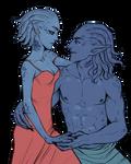 Couples Sketch__ Eowyn and Falinzin by BlackBirdInk