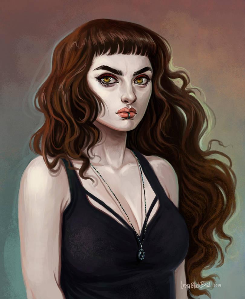 Bust_Emily by BlackBirdInk