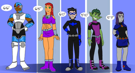 Titans Lineup by Robyn-Kitty