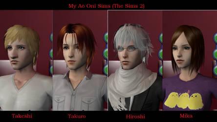 My Ao Oni Sims by PsychedelicShizaya