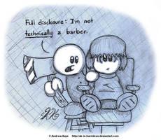Sketch - Barber Chop by AK-Is-Harmless