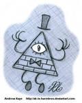 Gravity Falls - Bill Cipher by AK-Is-Harmless
