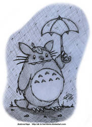 Sketch - Totoro by AK-Is-Harmless