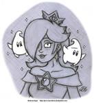 Sketch - Princess Rosalina by AK-Is-Harmless