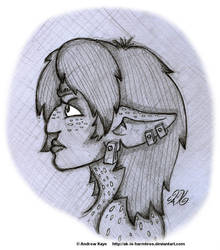 Sketch - Fortuna Profile by AK-Is-Harmless