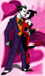 Joker + Harley Valentine by insectikette