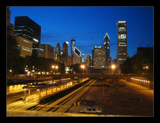 Chicago by early night by maurice